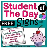 Student of the Day Signs FREE