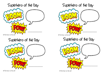Student of the Day-Superhero