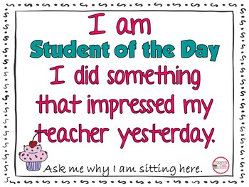 Student of the Day for Classroom Management