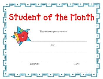 Student of the Month Award