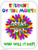Student of the Month Award Certificates - Editable