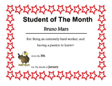 Student of the Month Award-Template *EDITABLE