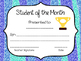 Student of the Month Awards