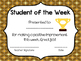 Free Student of the Month Awards