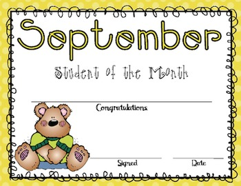Student of the Month Award Bundle (Editable)