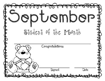 Student of the Month Awards (Editable)