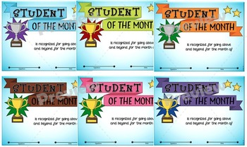 Student of the Month Awards Set