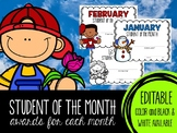 Student of the Month Awards for Each Month