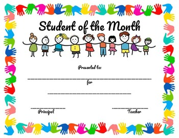 student of the month certificate pbis inspired by craftyteacher246