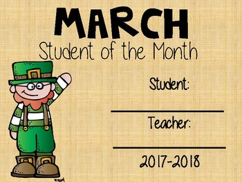 Student of the Month Certificates - awards
