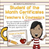 Student of the Month Certificates/Awards From Teachers, Co