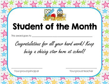 Student of the Month Freebie