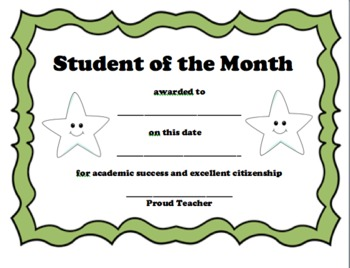 Student of the Month Package