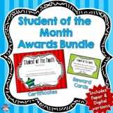 Student of the Month Awards   Semi-Editable Certificates a