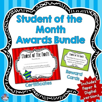 Student of the Month Awards Bundle