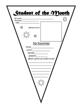 Student of the Month Pennant