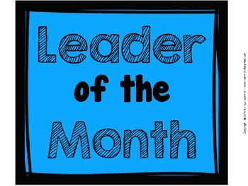 Student of the Month / Leader of the Month Poster