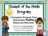 Student of the Month Positive Behavior Program Fully Custo