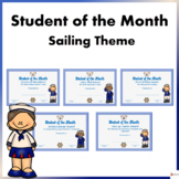 Student of the Month Sailing theme