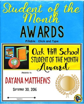 Student of the Month School Awards