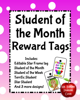 Student of the Month and Week Brag Tags PBIS