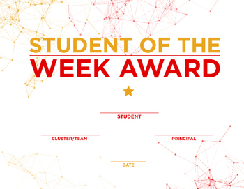 Student of the Week Award 2