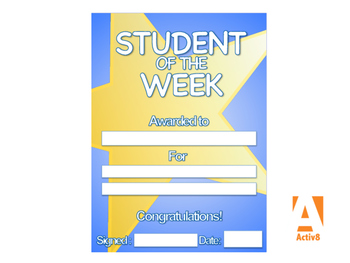 Student of the Week - Award