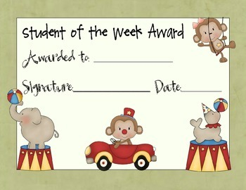Student of the Week Awards Set