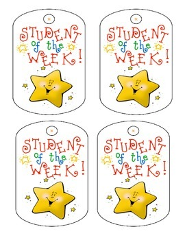 Student of the Week Badges