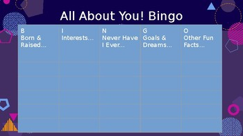 "Student of the Week ""All About You!"" Bingo-- Get to Know Your Students"