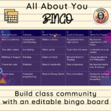 """Student of the Week """"All About You!"""" Bingo-- Get to Know Y"""