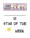 Student of the Week Book Cover - Snoopy Themed