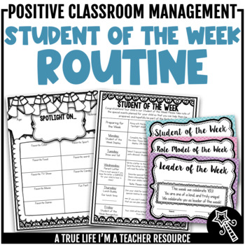 Student of the Week Routine