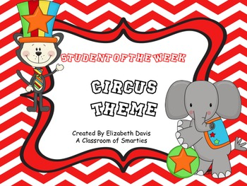 Student of the Week- Circus Theme