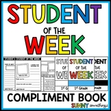Student of the Week Class Compliment Book