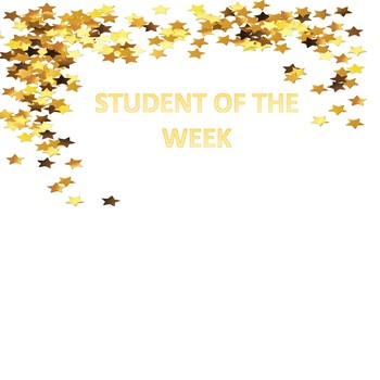 Student of the Week Classroom Poster