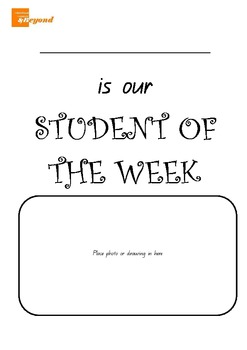 Student of the Week - Classroom display