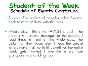 Student of the Week- Frog Theme