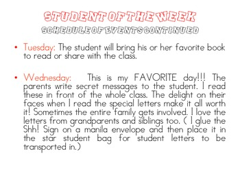 Student of the Week- Generic Theme