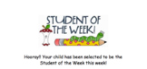 Student of the Week Ideas