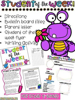 Student of the Week Newsletter- MONSTER
