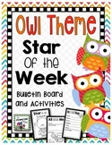 Student of the Week- Owl Theme