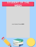 Student of the Week Poster Template