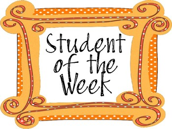 Student of the Week Sign or Label