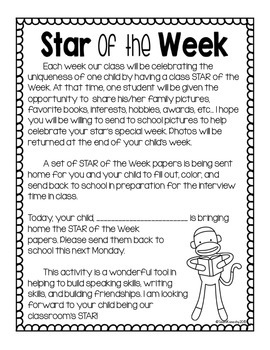Student of the Week- Sock Monkey Theme