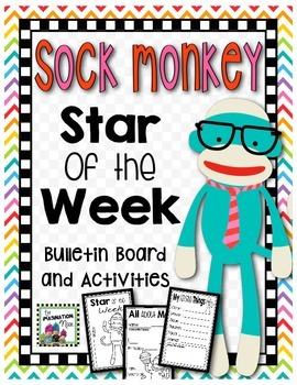 Student of the Week- Sock Monkey Theme