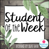 Student of the Week {Southern Charm} Interactive Bulletin