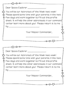 Student of the Week- Space Theme