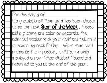Student of the Week (Star)