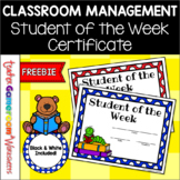 Freebie - Student of the Week Certificates